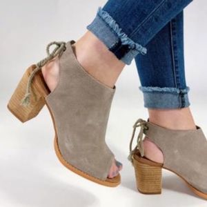 TOMS Elba Suede Taupe Bootie 8W
